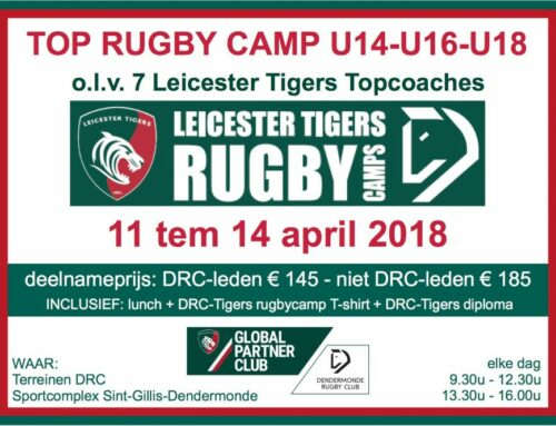 Opnieuw uniek rugbykamp olv LEICESTER TIGERS
